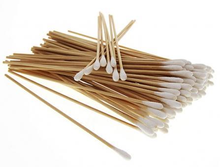 15 cm oder 23 cm Watteträger, Kosmetex Wattestäbchen, Holzstab mit Wattekopf