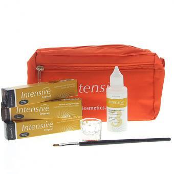 Wimpernfarbe Starter-Set von Biosmetics. Komplett alles für das Färben von Wimpern Augenbrauen