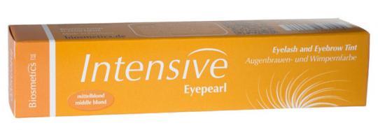 Intensive Eyepearl Wimpern- und Augenbrauenfarbe mittelblond. Für voluminöse Wimpern. 20ml