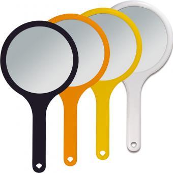 Kosmetex Handspiegel mit 2-fach Vergrößerung, 2 Spiegel-Flächen RS 1:1, Kosmetik-Spiegel