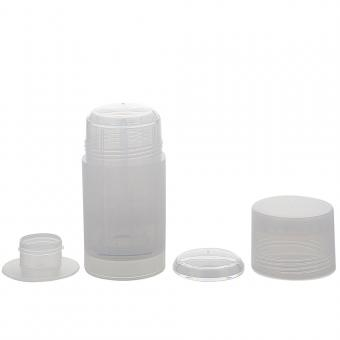 Deo Stick Flasche 75ml, leer, Kosmetex, Kunststoff, nachfüllbar, für selbsthergestellte Deos, tropfsichere Konsistenzen