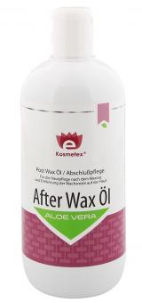 Nach dem Waxing, Kosmetex Premium Aloe Vera After Wax Öl, beruhigt, lindert, kühlt, pflegt, entfernt Wachsreste, 500ml