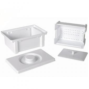 Kosmetex Steribox, Behälter für die Desinfektion, Sterilisationsbox, Desinfektionsbox, Reinigung von Instrumenten