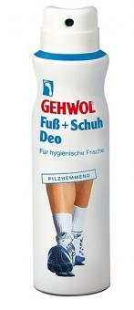 GEHWOL Fußdeo und Schuhdeo, mit Pilzschutz, Fußspray Schuhspray gegen Fußgeruch, mit Zink,150 ml