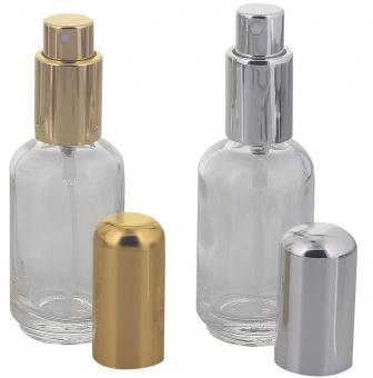 Abgerundeter Parfümflakon, Glas mit Zerstäuber, 50ml Flakon Flaschenform für Parfum, Colognes, leer, Kosmetex