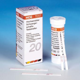 Schwangerschafts Teststreifen Urin, chromatografischer Schnelltest von Cleartest, 20 Teststreifen