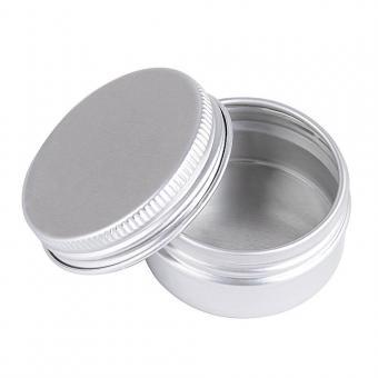 Schraubdose 15ml, Alu-Tiegel aus Aluminium, m. Schraub-Deckel, leer, Kosmetex Aludose, Kosmetik-Dose, Cremedose