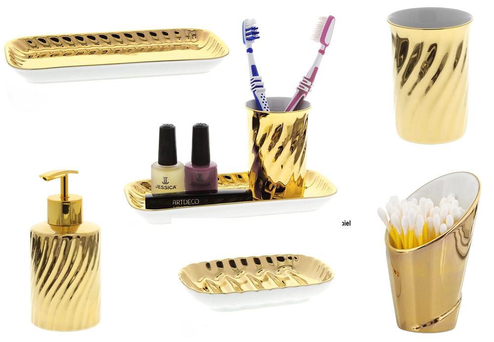 Badezimmer Accessoires Gold Drewkasunic Designs