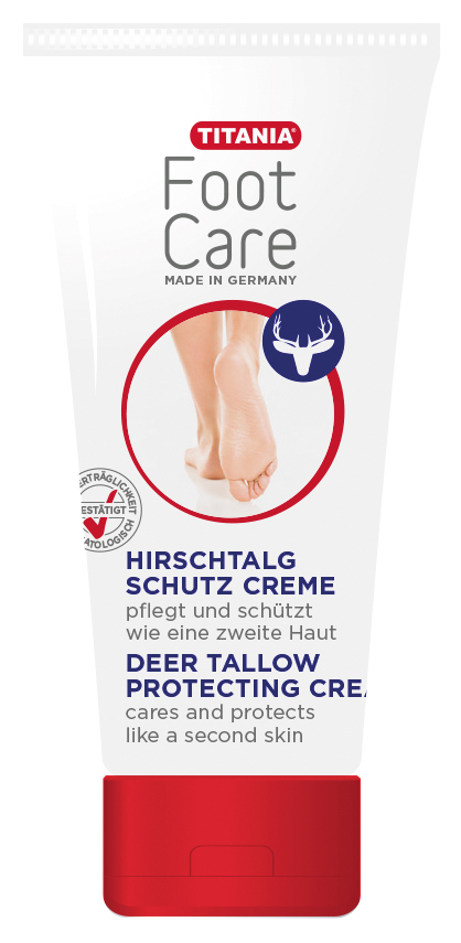 Titania Hirschtalgcreme, Fußcreme, Hirschtalg pflegt trockene Haut, 100 ml 5310-100