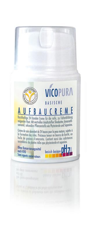 VICOPURA 24 Std. Aufbaucreme, basisch, pH 7. 4, Basencreme die Aufbaut, Tagescreme und Nachtcreme, 50 ml