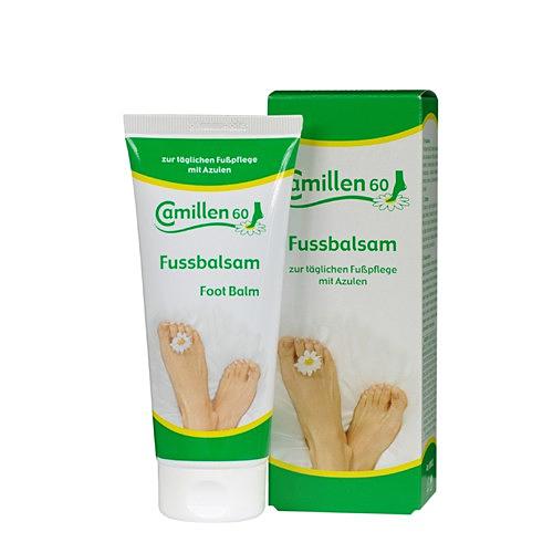 Fussbalsam Camillen 60, Fußcreme, Balsam mit Kamillenöl, Azulen, Kampfer