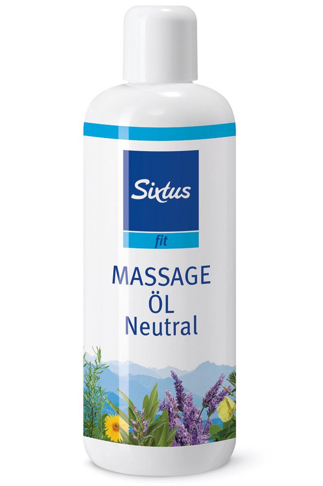Sixtus fit Massageöl Naturreines Öl für die Massage, parfümfrei, mit und ohne Duft, 500ml F3617