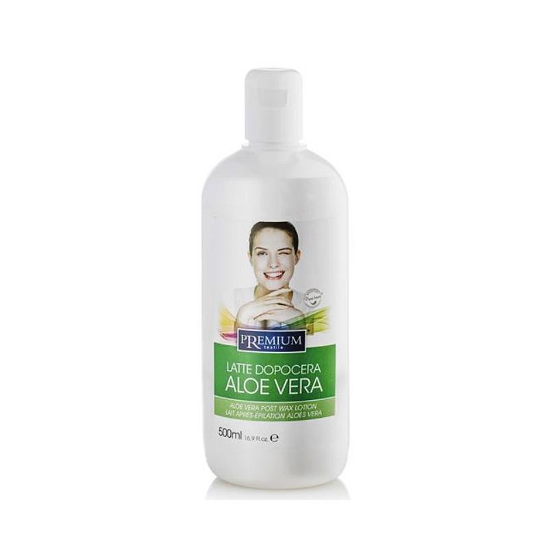 Kosmetex Premium Aloe Vera After Wax Lotion, beruhigt, pflegt, entspannt, entfernt Wachsreste nach dem Wachsen - Waxing, 500ml
