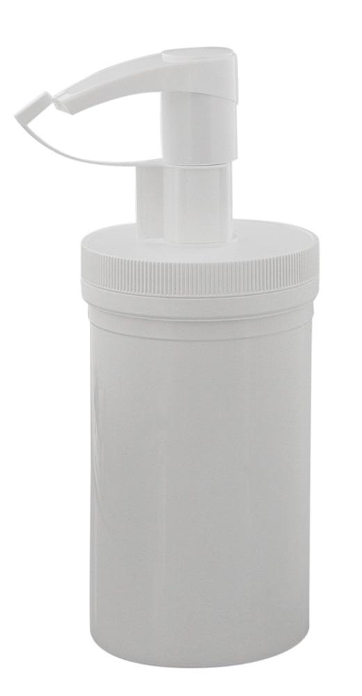Creme-Pumpspender 450ml, leere weiße Dose mit Pumper, Kosmetex