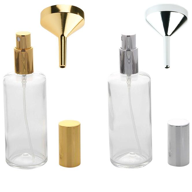 Kosmetex Parfümflakon Glas mit Zerstäuber, 100ml Flakon für Parfum Colognes, leer