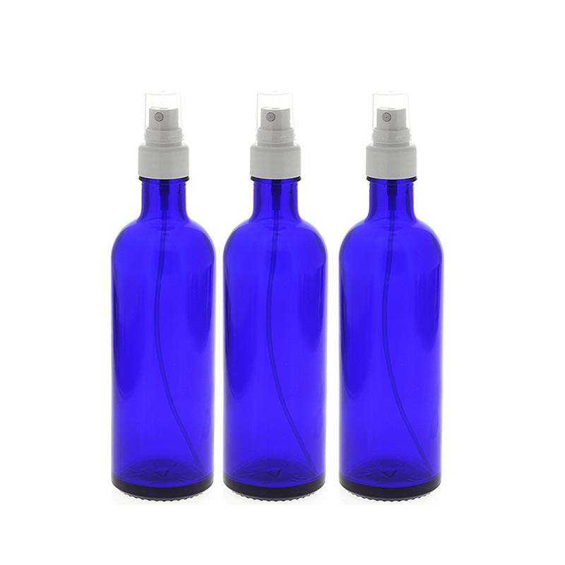 blauglas flaschen mit zerst uber leere kosmetex spr hflasche 200 ml. Black Bedroom Furniture Sets. Home Design Ideas