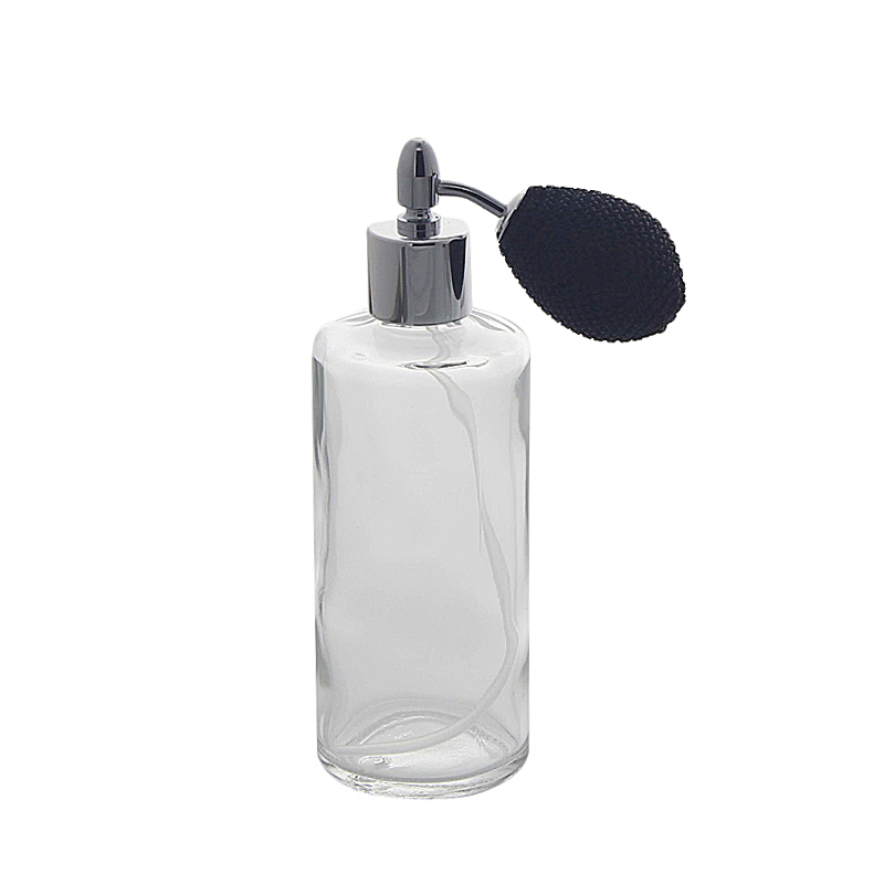 Kosmetex Parfümflakon mit Ballpumpe, Glas 100ml Flakon für Parfum Colognes, leer