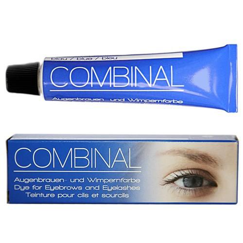 Combinal Wimpernfarbe Blau, Augenbrauenfarbe, wasserfest, 15ml