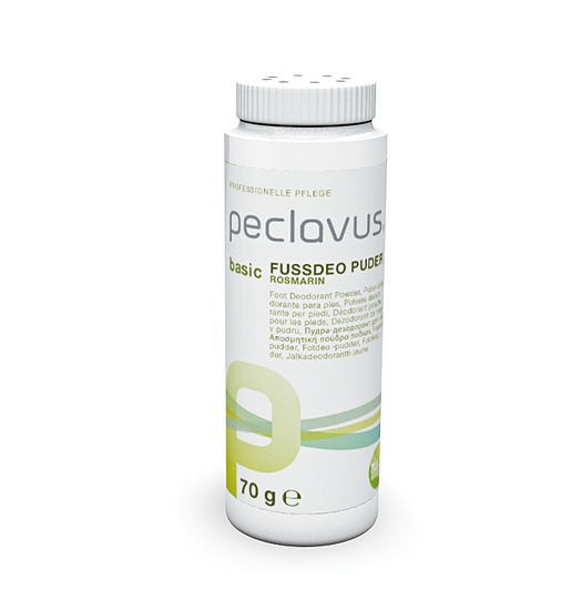 Peclavus Basic Fußdeo Puder, Fußpuder, desinfizierend, desodorierend, 70 g ruc55004