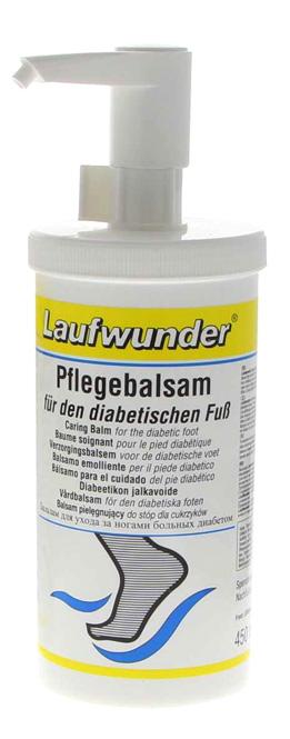 Laufwunder Pflegebalsam für den diabetischen Fuß, Fußcreme mit Urea und Menthol, für Diabetiker,