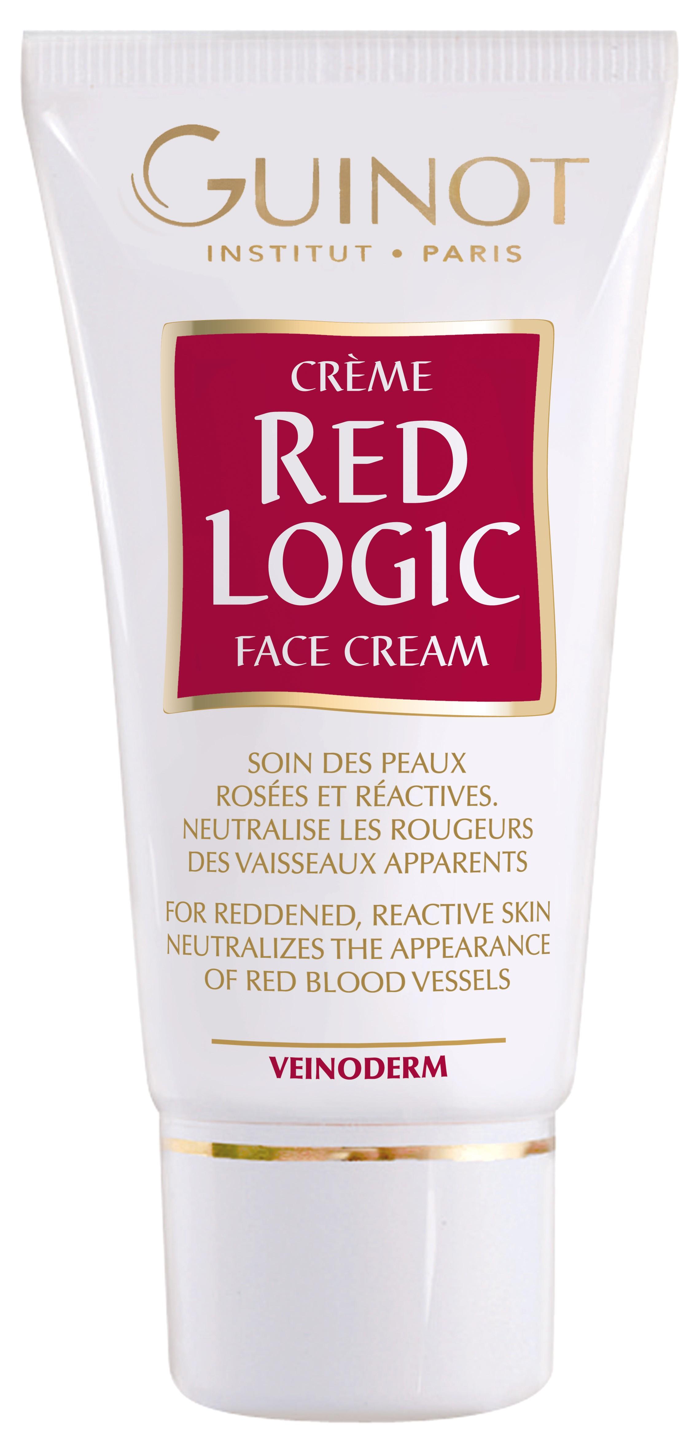 GUINOT Creme Red Logic, Face Cream Veinoderm, beruhigende Gesichtscreme, 30ml
