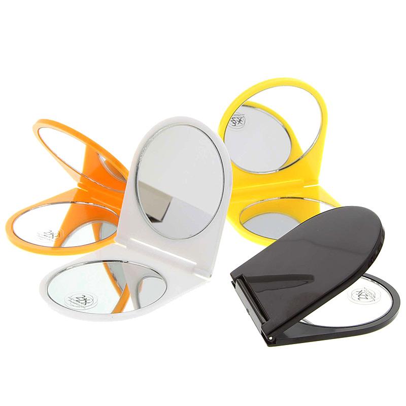 Klappbarer Doppel Taschen-Spiegel Kosmetex Reise Handspiegel mit 2-fach Vergrößerung