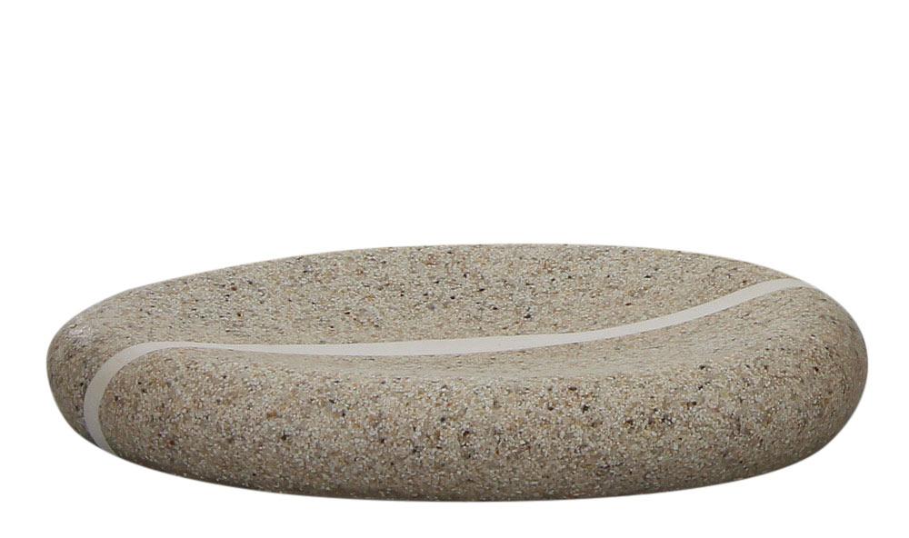 Seifenschale Meersand, Kosmetex Bad Seifen-Ablage, oval