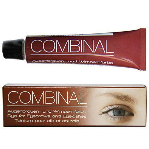 Combinal Wimpernfarbe Braun, Augenbrauenfarbe, wasserfest, 15ml