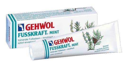 GEHWOL Fusskraft Mint, Kühlender Fußbalsam erfrischende Fußcreme,