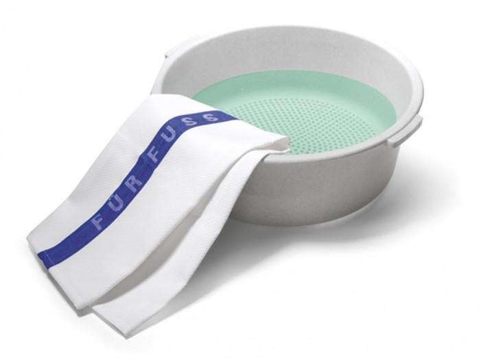 Fußbad-Schüssel mit Noppen für Massage, Kosmetex Fuß-Wanne, Fußbadewanne für Fußsohle mit Massage-Effekt Wasch-schüssel Ø40cm 46010