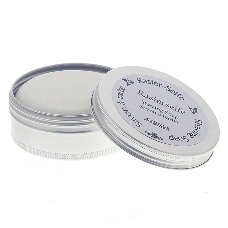 Aurawerk Rasierseife 100g Seife für die Rasur in Alu-Dose 85103