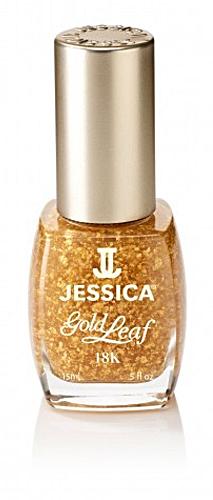 Jessica Nagellack 18K Gold Topcoat, Glitter, Goldglitzerpartikel, 15ml J-JA1220