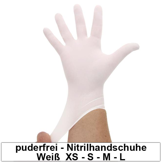 nitrilhandschuhe wei einmalhandschuhe weisse einweghandschuhe 100 st ck. Black Bedroom Furniture Sets. Home Design Ideas