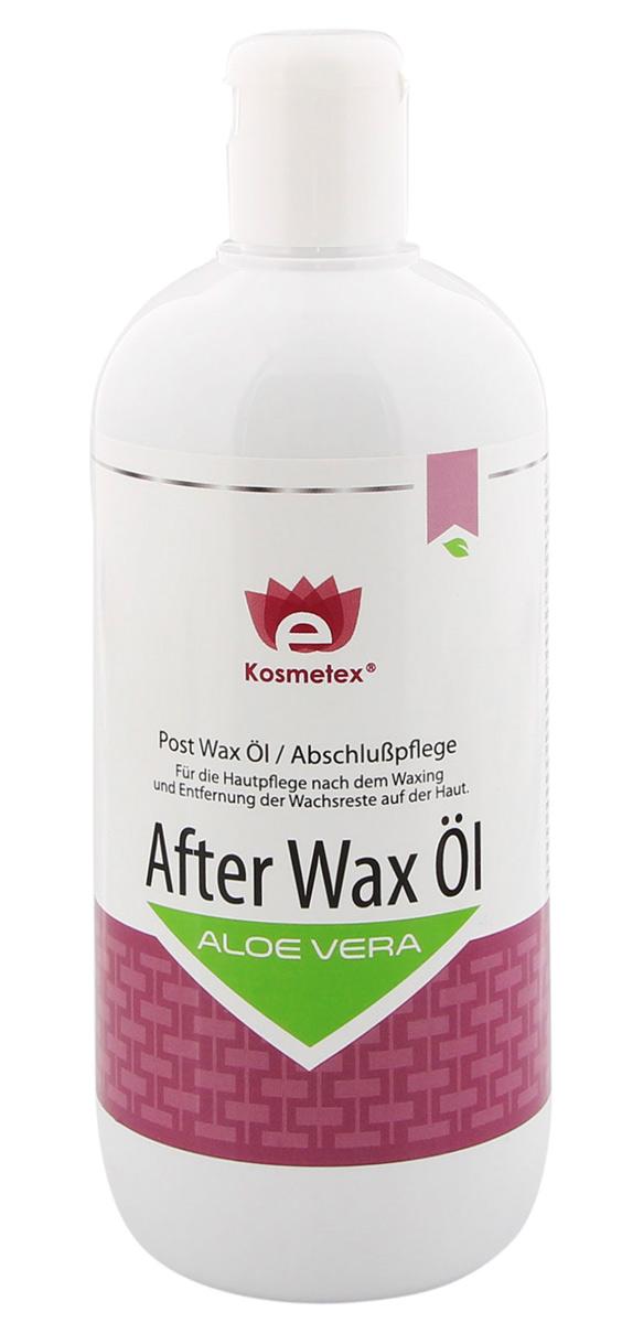 Kosmetex Aloe Vera After Wax Öl, beruhigend und pflegt, entfernt Wachsreste nach dem Wachsen - Waxing, 500ml