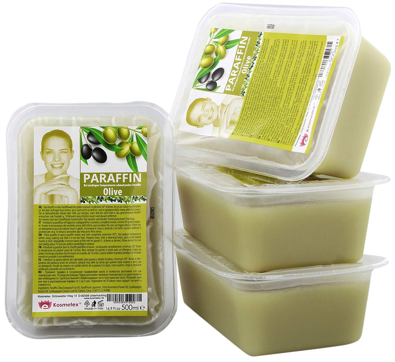 Kosmetex Paraffin-wachs Olive, Paraffinbad Wachs mit niedrigeren Schmelzpunkt