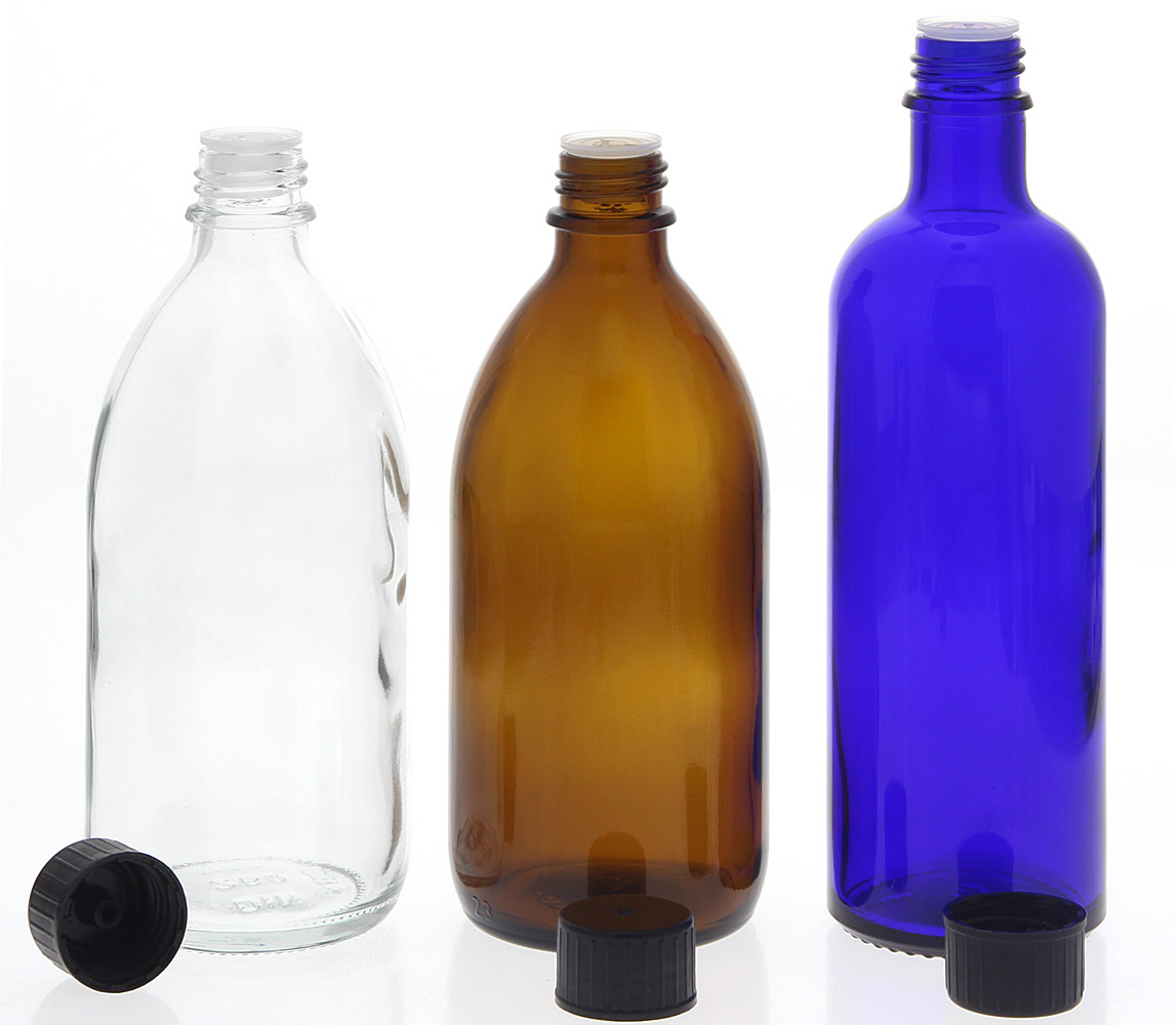 Flasche m. ausgießer, Gießring, leer Kosmetex-Flakon, leer