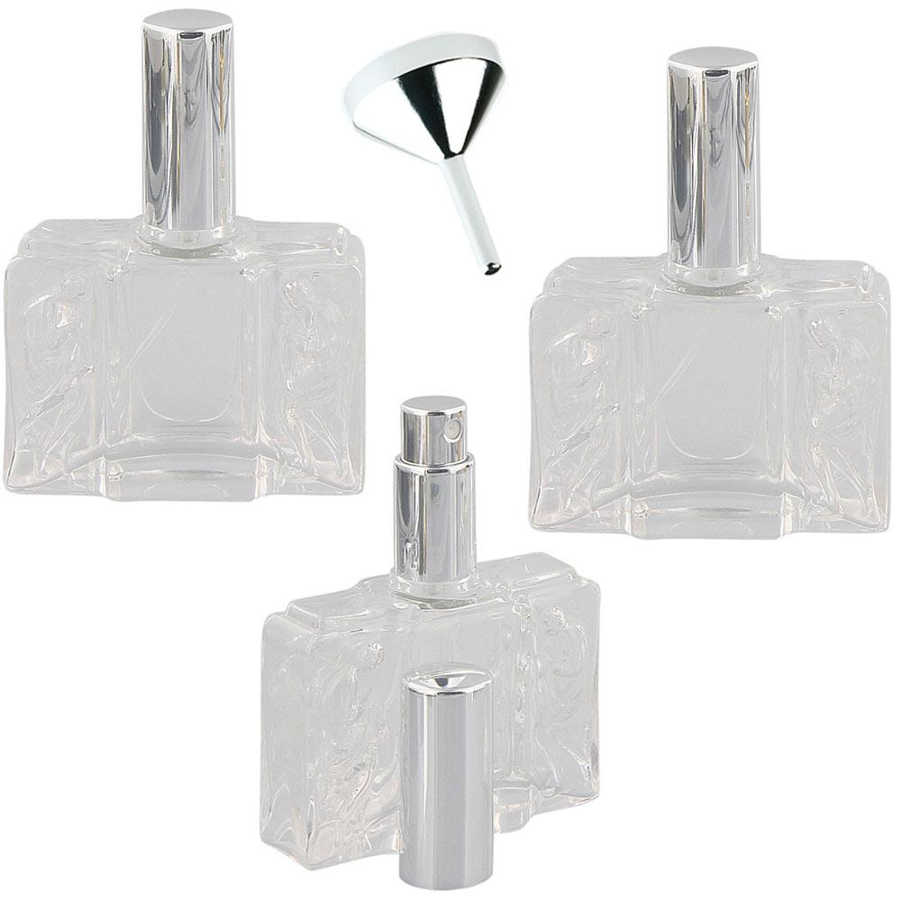 Glas-Flacons a 50 ml, Kosmetex Tisch-Zerstäuber für Parfüm,