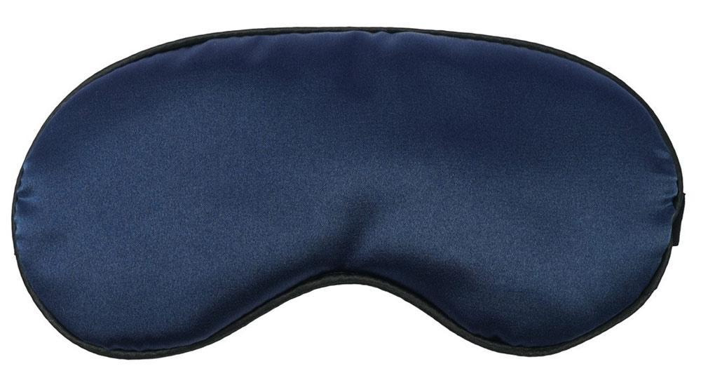 Schlafmaske in Blau Kosmetex, Satin-Look Augenmaske als Schlafhilfe