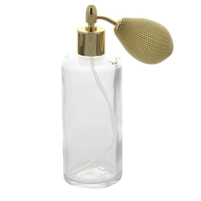Kosmetex Parfümflakon mit Ballpumpe, Glas 100ml Flakon für Parfum Colognes, leer 49325DA1