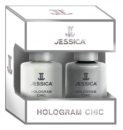 Jessica Nagellack Hologram Duo, silber, metallic, Hologramm, 14,8 ml J-HoloDuo