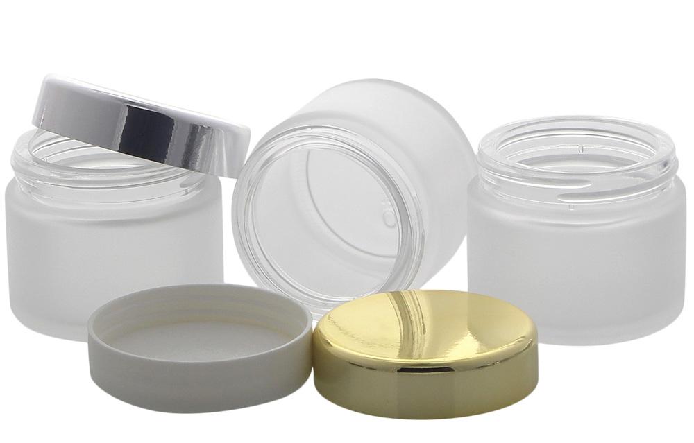 matter glas tiegel 100ml mit deckel leere glas dose kosmetex mattglas. Black Bedroom Furniture Sets. Home Design Ideas