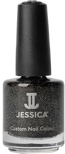 Jessica Nagellack 645 Black Ice, Schwarz - Schimmernd, 14,8ml J-UPC645