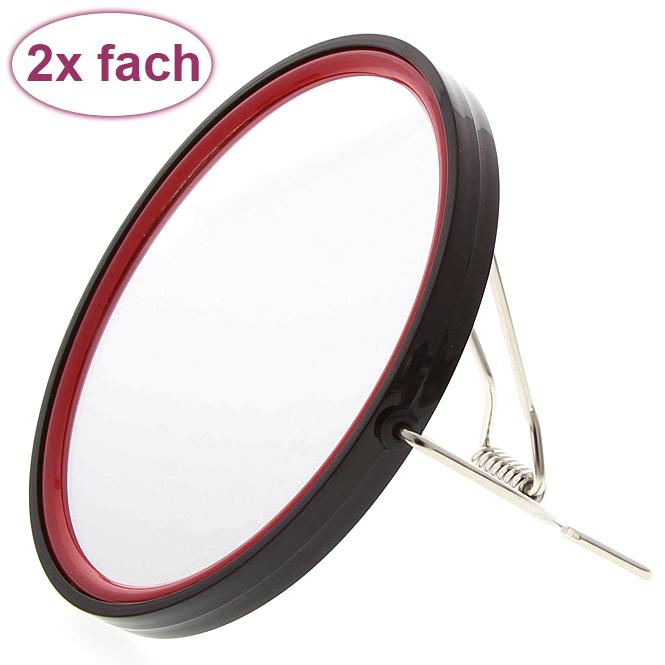 Rasier-Spiegel, Spiegel, 2-fach, zum Stellen oder Aufhängen, Kosmetik-Spiegel Kosmetex MenB mit 2 Seiten