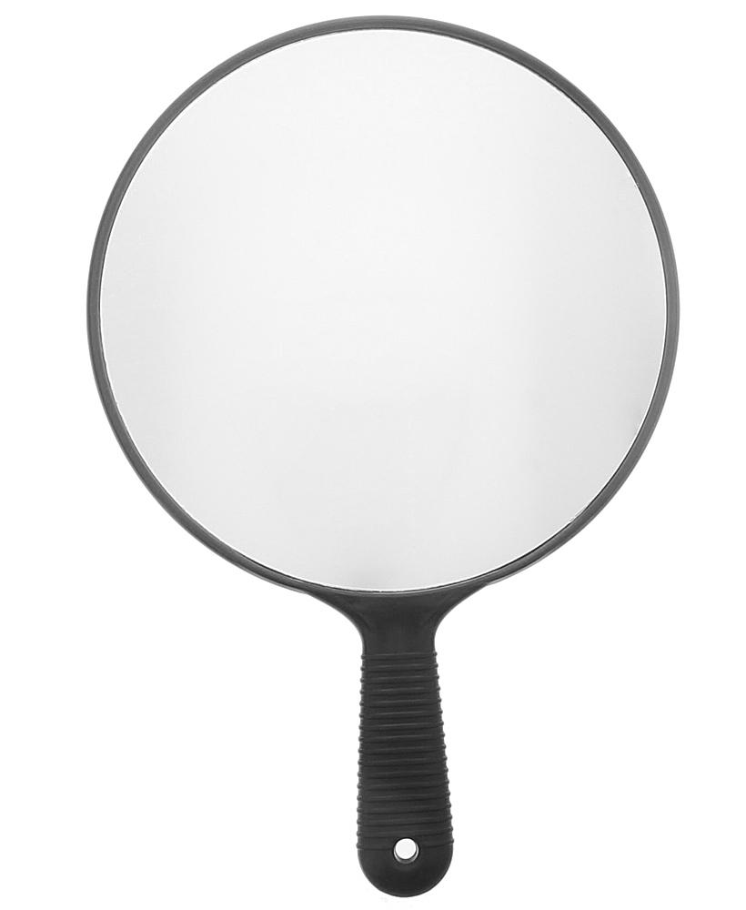 Großer Ø 26 cm Handspiegel Salon Friseur-Spiegel, Schwarz Hand-Spiegel Kosmetex, 1:1