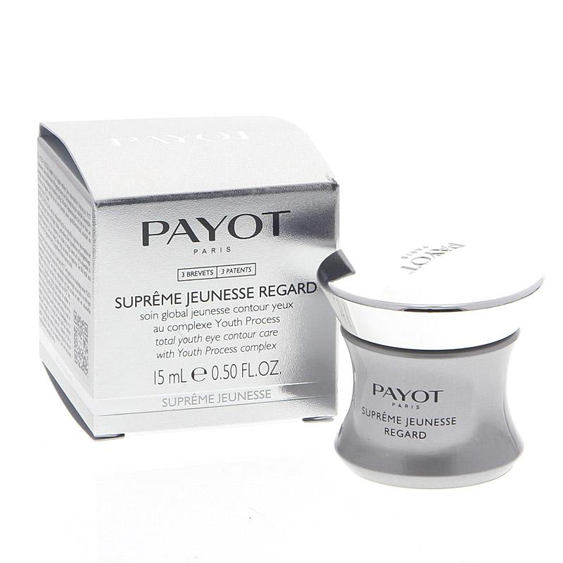 Payot Supréme Jeunesse Regard, Augencreme Anti-Aging-Pflege, Glättung der Augenpartie, hellt Augenschatten auf,15 ml