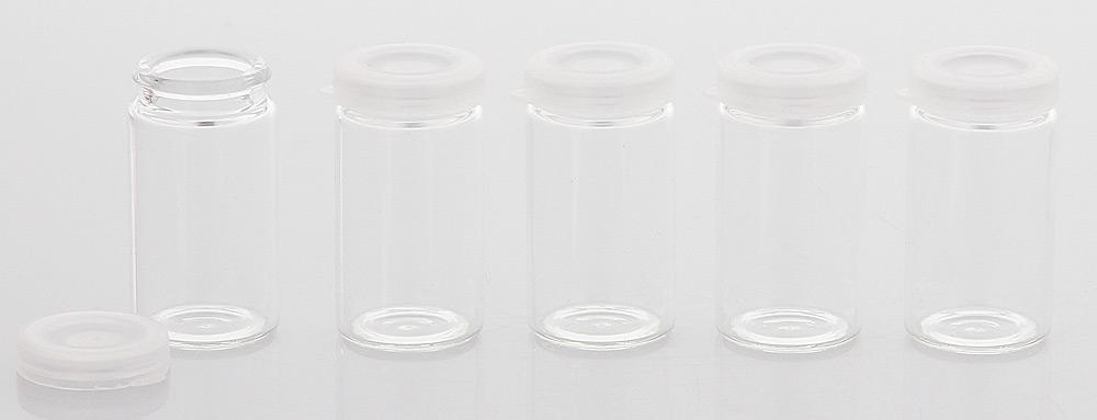 Klar-Glasflasche, Flasche mit Verschluss 5 ml, leer Kosmetex Flasche zum Selbst Befüllen 36-0005