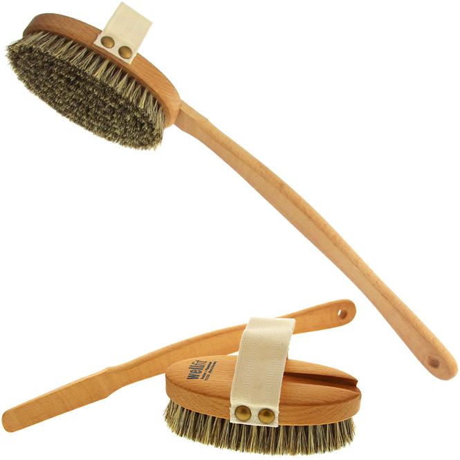 trocken massageb rste wellfit mit gurt hand trockenmassage kosmetik. Black Bedroom Furniture Sets. Home Design Ideas