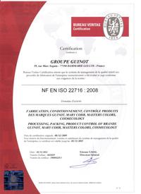 Guinot Patent ISO 22 716