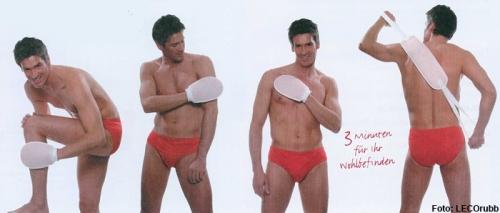 Anwendung Massagehandschuh - peelen