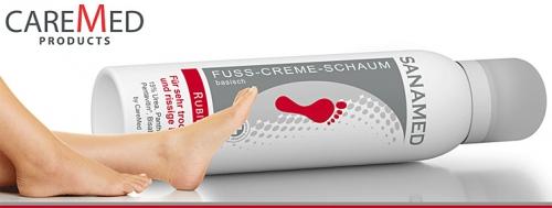 Fuss Creme Schaum von Sanamed Produktfoto